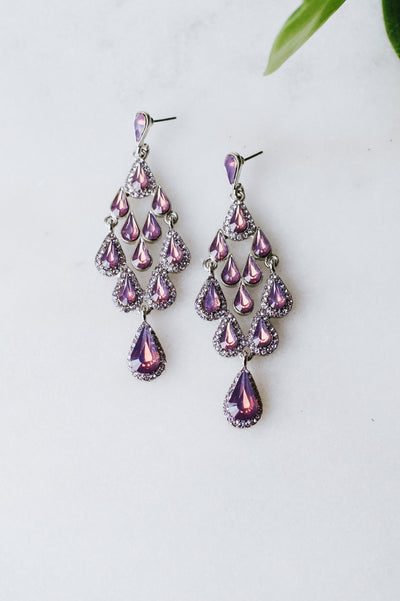 Teardrop 3-2-1 Chandelier Earring
