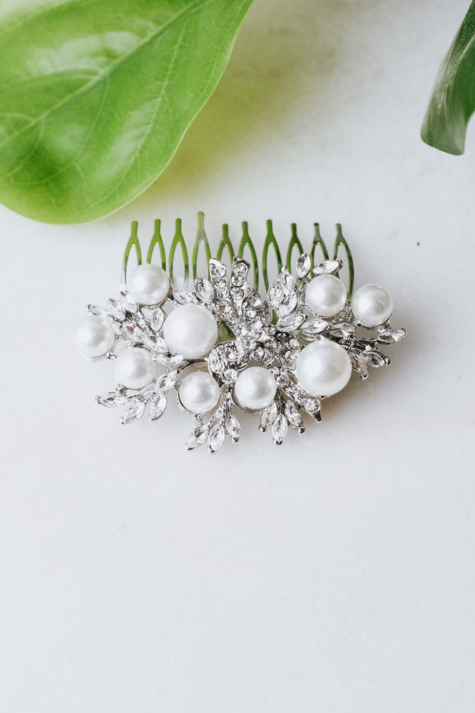 Large Pearl Almond Vine Hair Comb