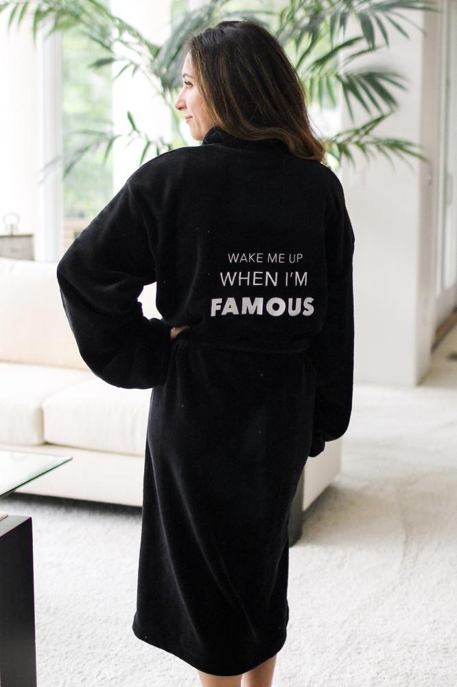 Wake Me Up When I'm Famous Robe-Glitz & Ears Boutique