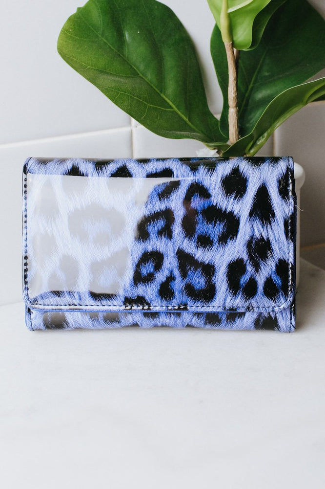 Patent Leather Leopard Wallet