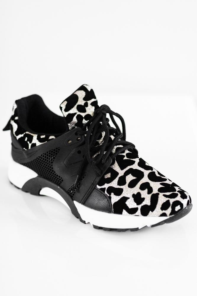 Sparkle Leopard Tennis Shoe