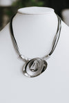 Different Overlap Metal Plates Necklace