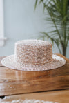 Flat Top All Rhinestone Panama Hat