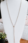 Three Stone Point Strand Long Lariat