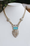 Aztec Stone Pendant Necklace