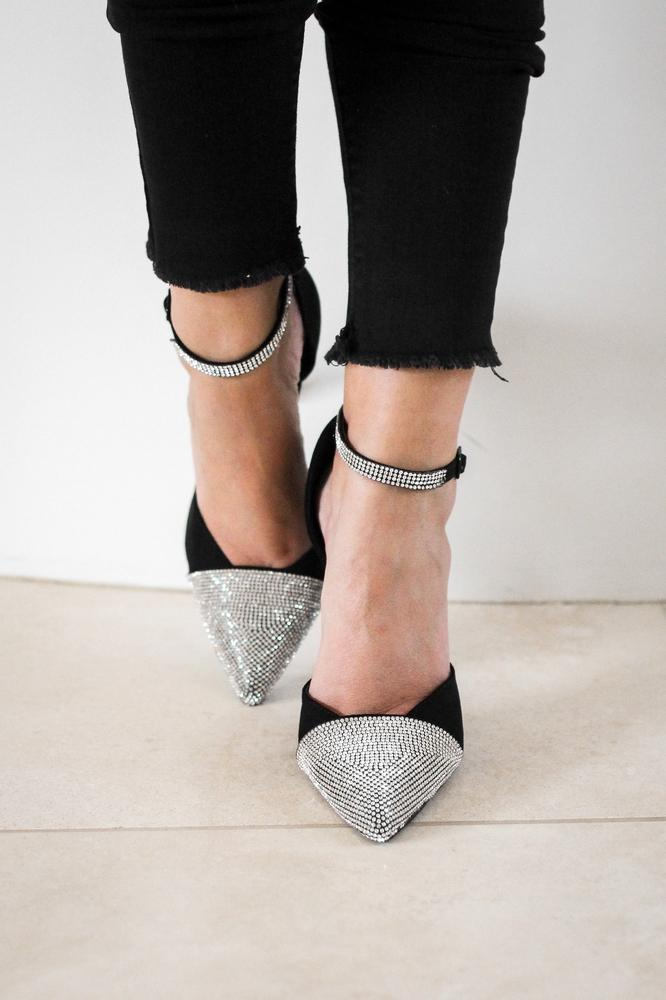 Rhinestone Pointed Toe Heel