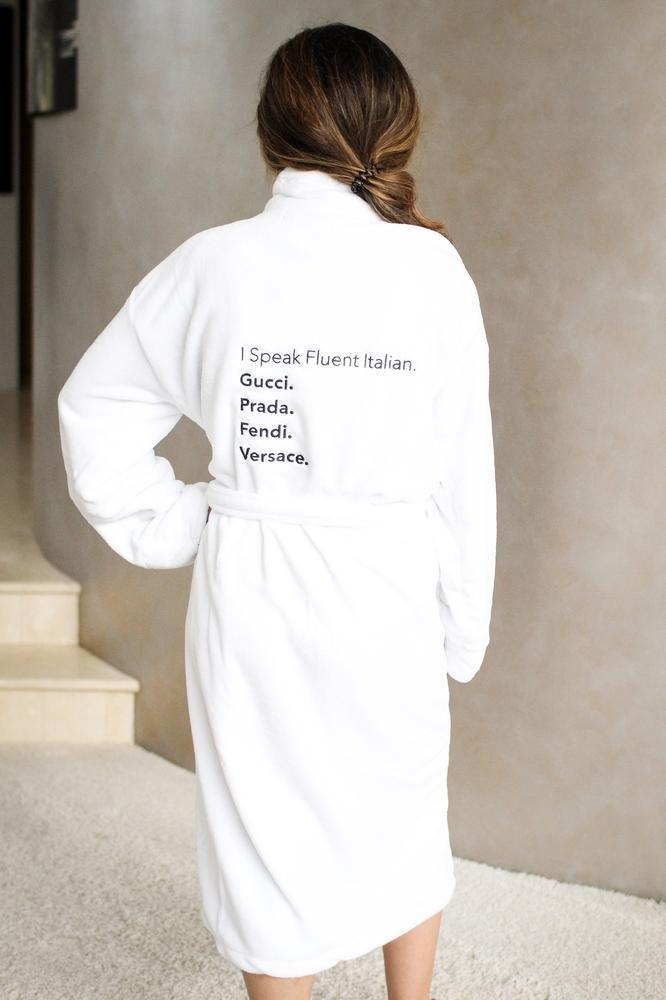 I Speak Fluent Italian Robe-Glitz & Ears Boutique