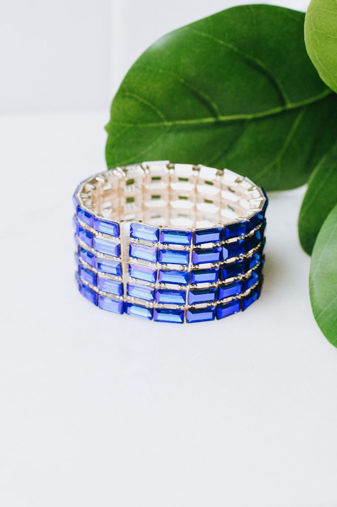5 Row Baguette Stretch Bracelet
