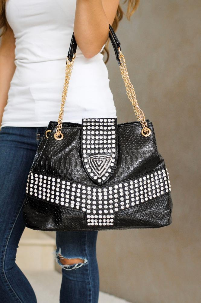 3D Triangle Patent Leather Purse - Glitz & Ears