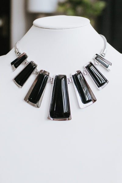 Different Size Rectangle Necklace