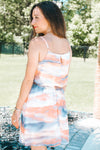 Watercolor Tie-Dye Chiffon Dress (Sale)