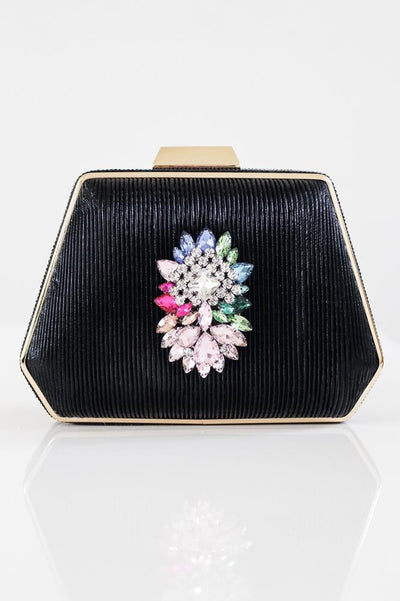 Colorful Brooch Center Clutch - Glitz & Ears