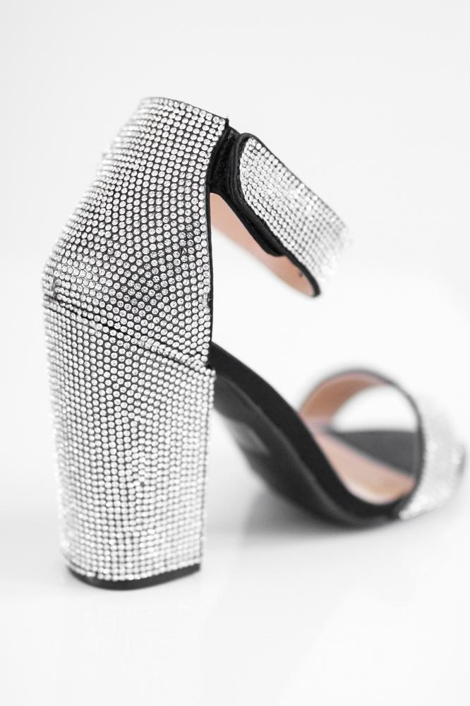 All Rhinestone Heel - Glitz & Ears