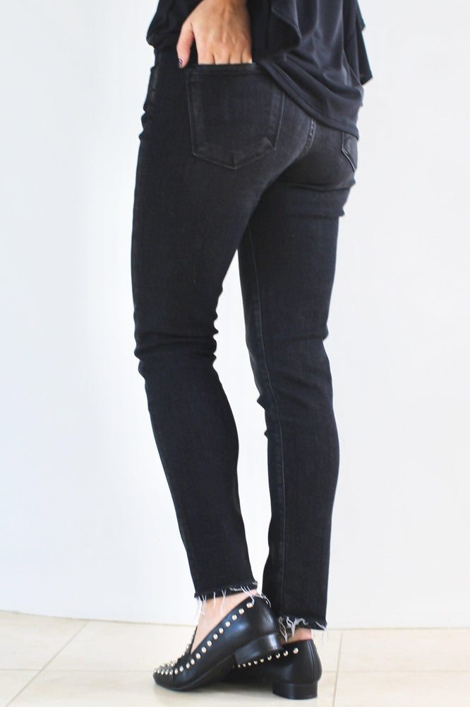 Faded Frayed Hem Skinny Jean - Glitz & Ears
