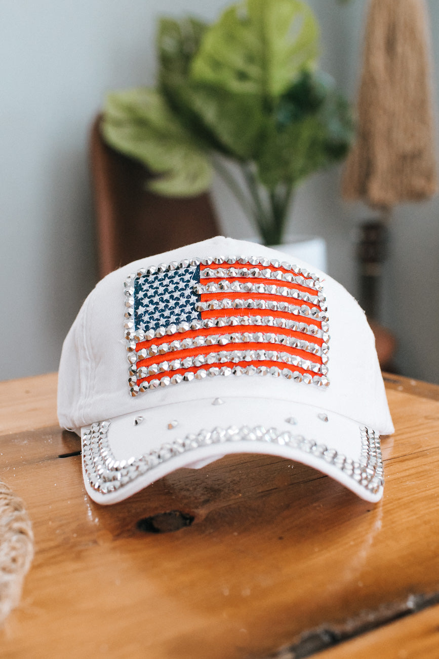 Flag with Scattered Stone Bill Baseball Hat