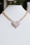 Heart Pendant Thick Chain Necklace