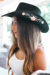 Embroidered Rose Cowboy Hat