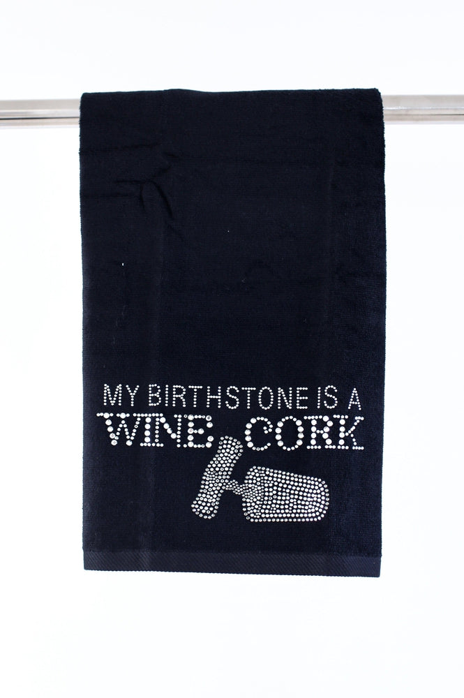 Birthstone/Wine Cork Towel - Glitz & Ears