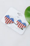 USA Rhinestone Heart Bobby Pin Set