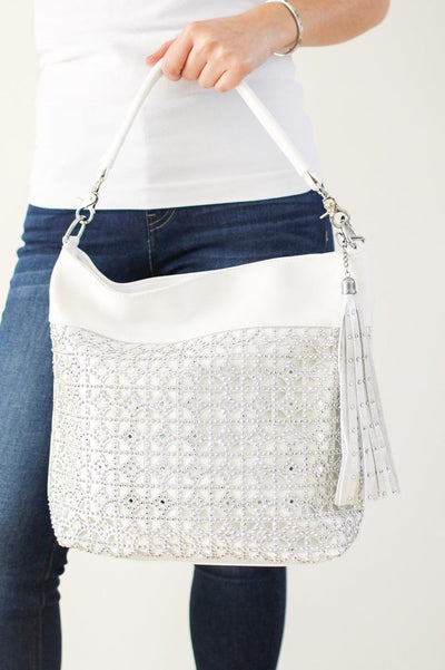 Diamond Pattern Cut Out Front Purse - Glitz & Ears