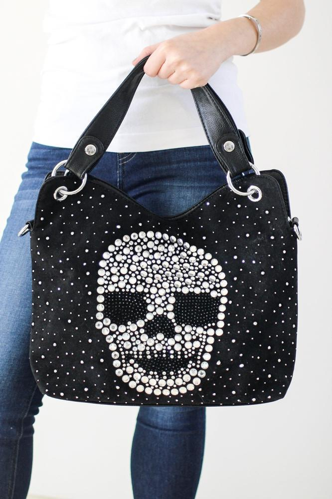 Large Stone Skull Front Purse