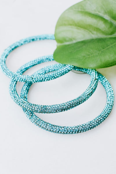 Rhinestone 3 Bangle Set