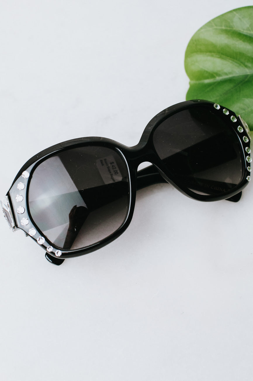 Round Shape Baguette Side Sunglasses