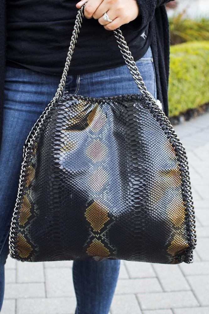 Chain Trim Snake Purse - Glitz & Ears