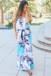 Leopard & Flower Strapless Jumpsuit