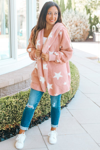 Scatter Star Fuzzy Jacket