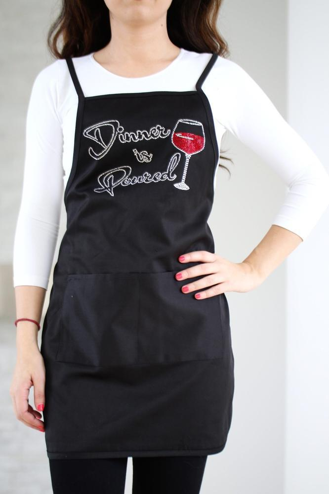 Dinner is Poured Apron - Glitz & Ears