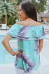 Soft Tie-Dye Off Shoulder Top (Sale)