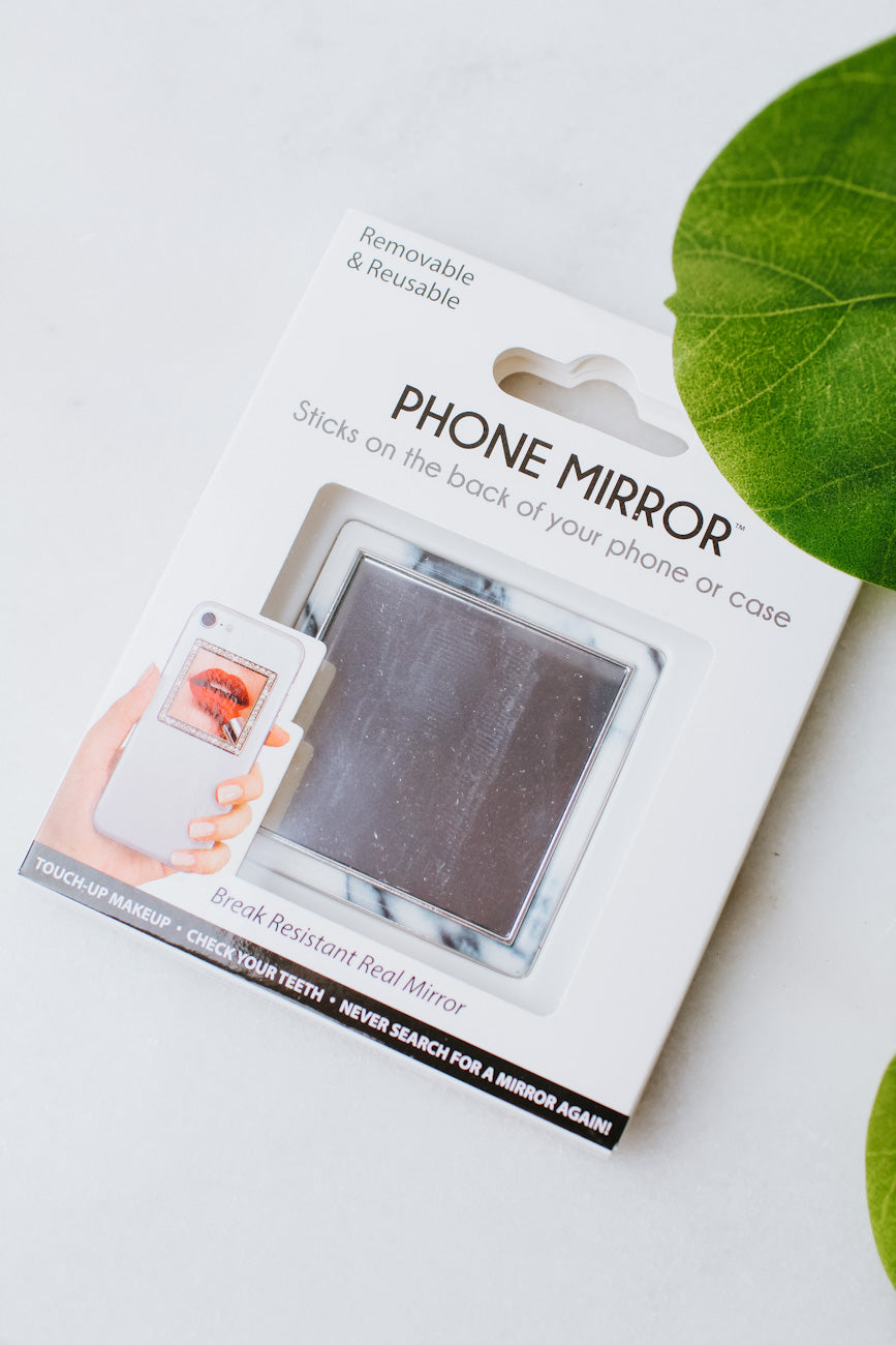 Marble Square Phone Mirror