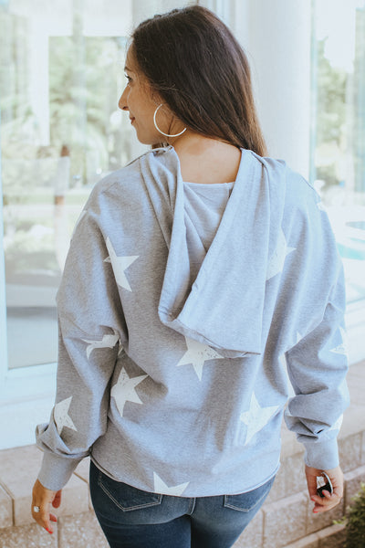 Cropped Scatter Star Hoodie