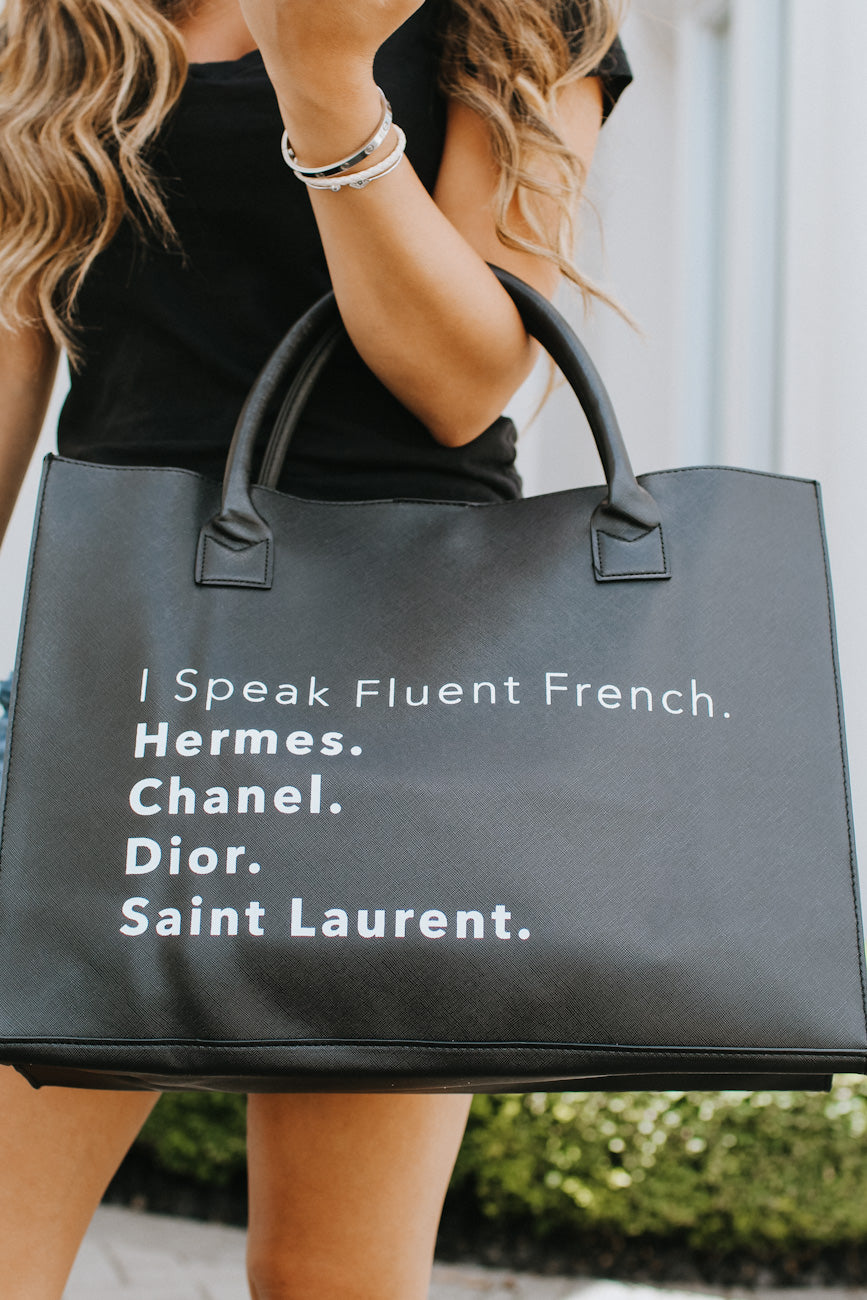 Fluent French Large Tote