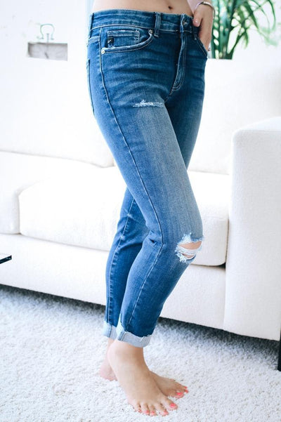 Ripped Knee Skinny Jean-Glitz & Ears Boutique