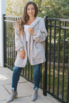 Hooded Solid Fuzzy Jacket