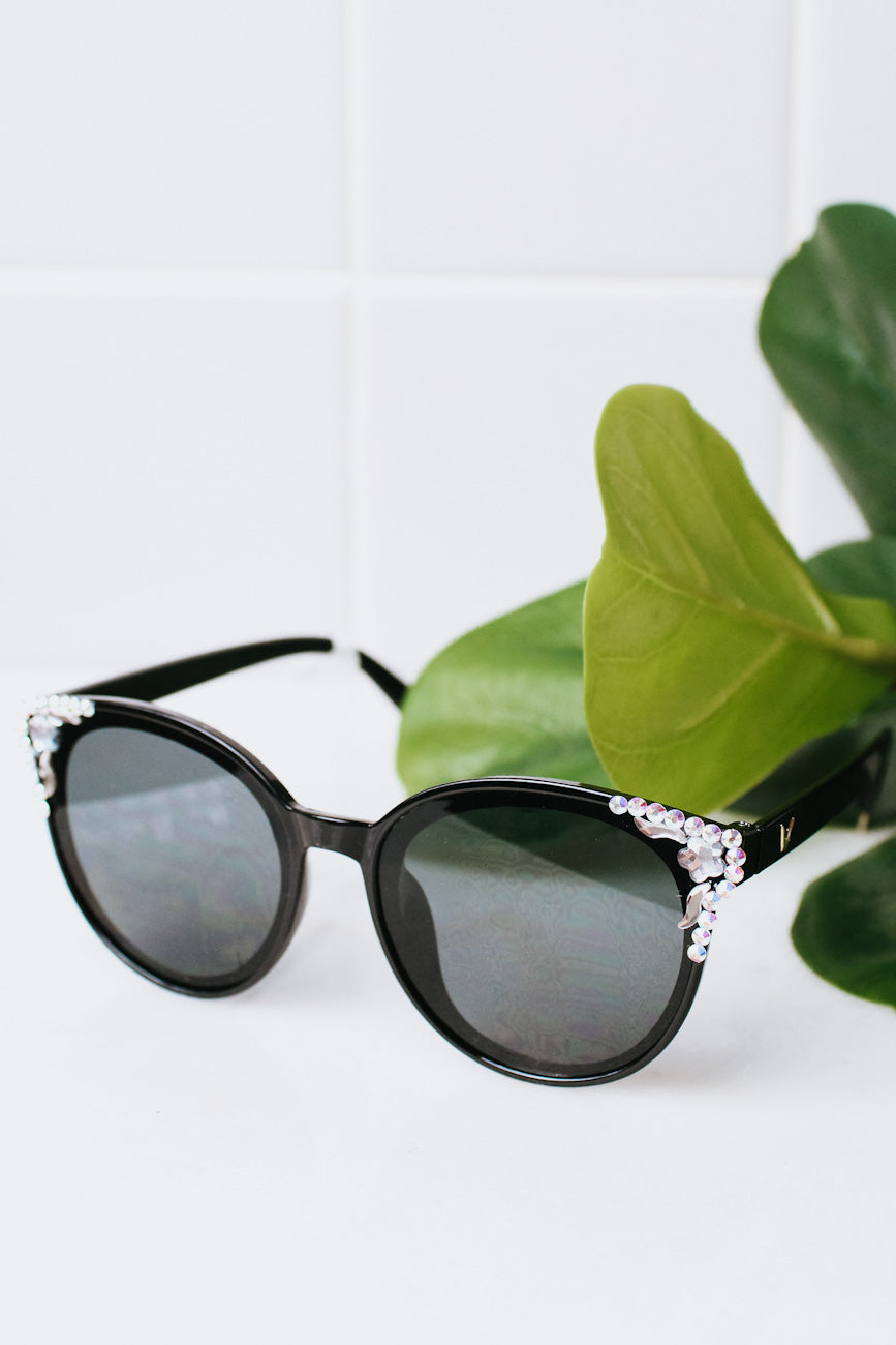 Cat Eye with AB Stones Sunglasses