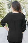 Tie Neck Chenille Sweater-Glitz & Ears Boutique