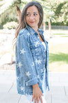 Star Print Denim Jacket (Sale)