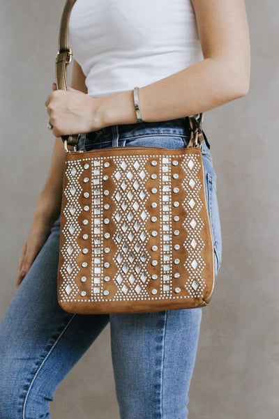 Diamond Middle & Square Rows Messenger - Glitz & Ears