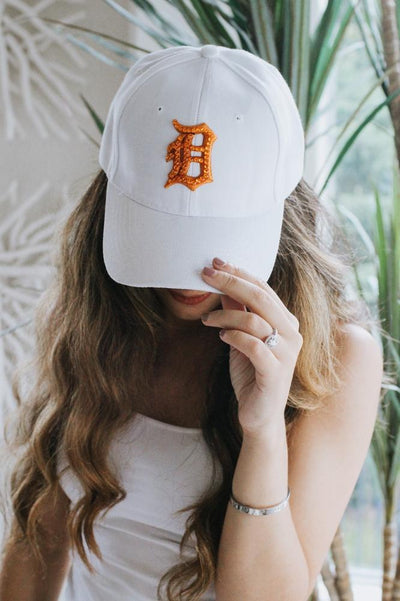 Orange Detroit D Baseball Hat-Glitz & Ears Boutique
