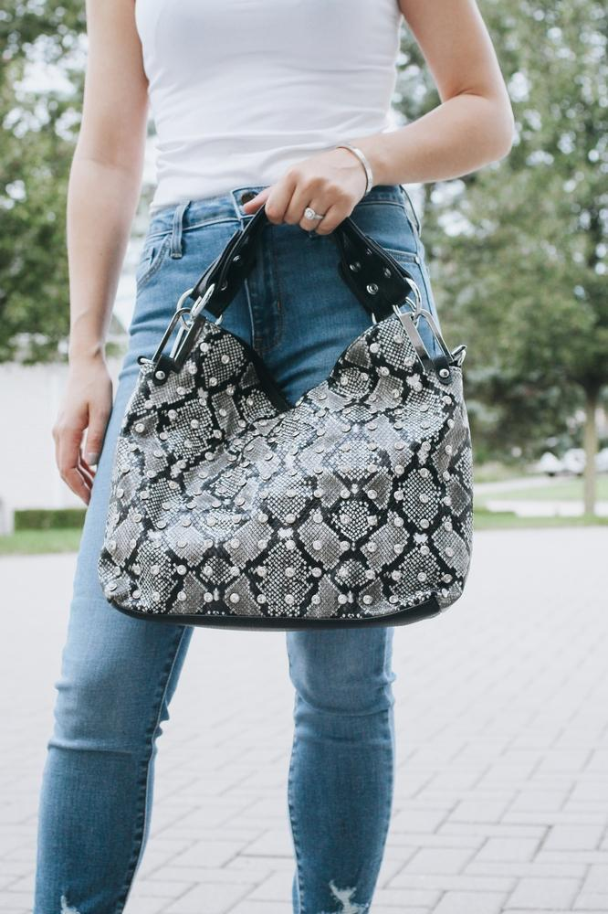 Printed Background Purse