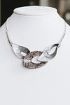 Snake Print Open Acrylic Shape Necklace