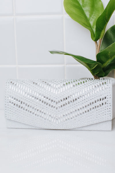 Baguette 2 Row Chevron Flap Clutch