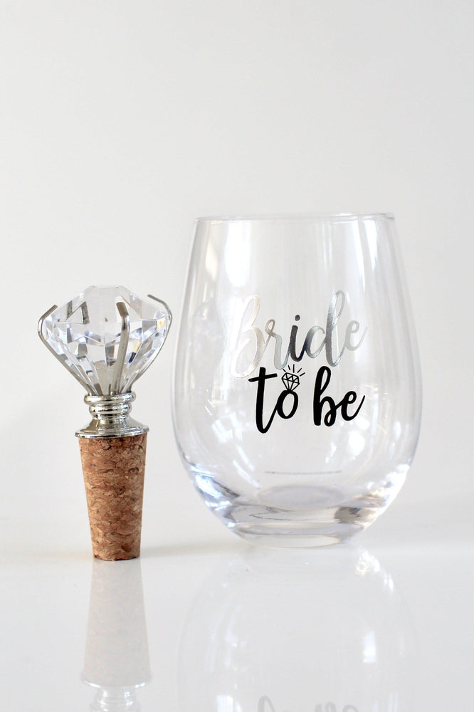 Bride To Be Stemless Wine Glass - Glitz & Ears
