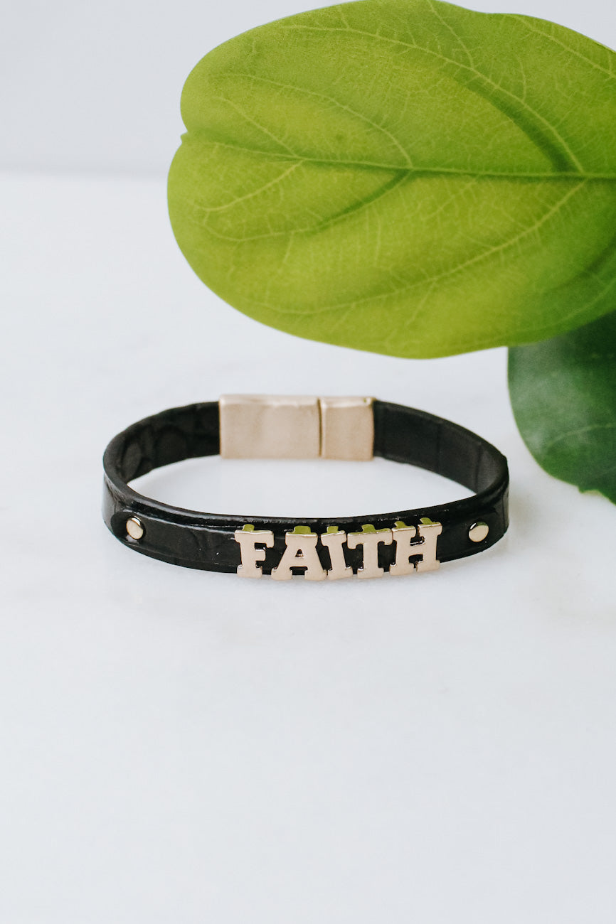 Faith Alligator Magnet Bracelet
