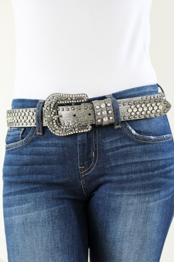 Stud, Rhinestone & Pearl Belt-Glitz & Ears Boutique