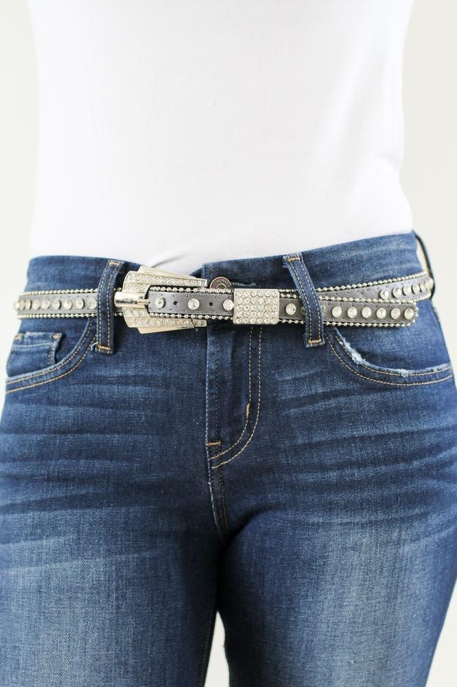 One Row Rhinestone Belt