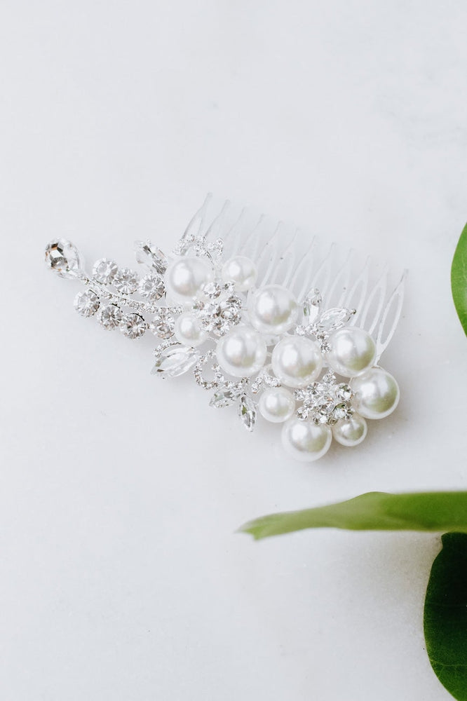 Pearl & Different Stone Hair Comb